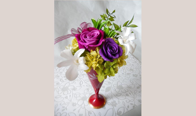 お花と器のお教室②