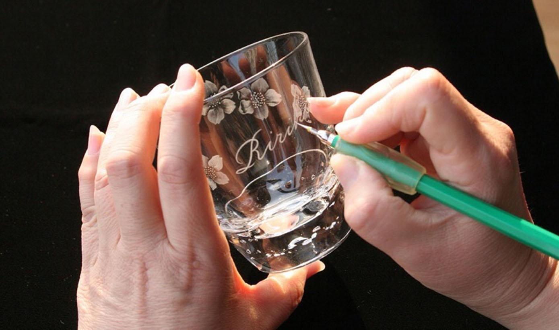 グラスリッツェン(手彫りガラス)①