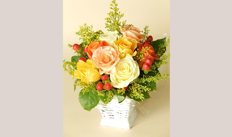 お花と器のお教室③